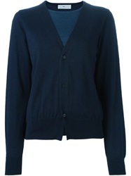 Toga Pulla Layered Cardigan Blue