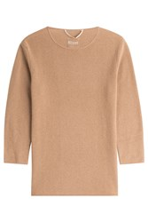 81 Hours By Dear Cashmere Cashmere 3 4 Sleeve Pullover Brown