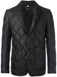 Burberry Quilted Single Breasted Blazer Black