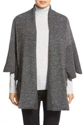 White Warren Shawl Collar Poncho Style Cardigan Gray