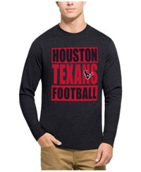 47 Brand '47 Men's Houston Texans Compton Club Long Sleeve T Shirt Heather Navy Red