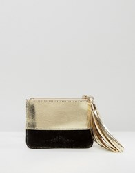 Urbancode Leather Coin Purse Black Gold