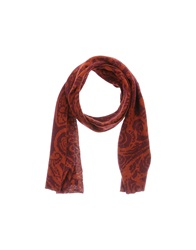 Hosio Oblong Scarves Brick Red