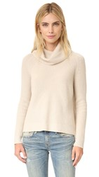 Alice Olivia Nettie Raglan Rib Turtleneck Sweater Oatmeal Heather