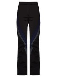 Fendi Colour Block Flared Leg Ski Trousers Black Multi