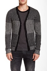 The Kooples Printed Knit Cardigan Multi