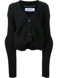 Muveil Cropped Cardigan Black