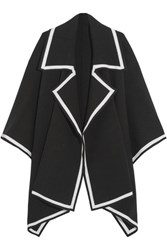 Burberry Prorsum Wool Blend Cape Black