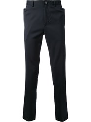 Wan Hung Pocket Detail Straight Leg Trousers Blue