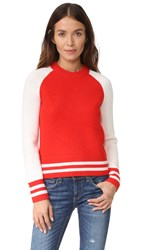 Rag And Bone Jana Pullover Fiery Red
