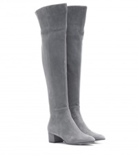 Gianvito Rossi Rolling Over The Knee Boots Grey