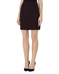 Reiss Camila Textured Skirt Grape