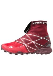 The North Face Ultra Mt Winter Trail Running Shoes Melonred White