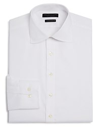 Bloomingdale's The Men's Store At Twill Solid Regular Fit Basic Dress Shirt White