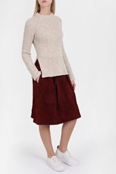 Joseph Women S Wool Mel Ribbed Jumper Boutique1 Brown