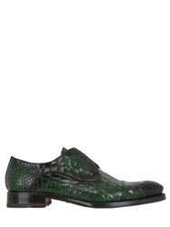 Harris Crocodile Embossed Leather Derby Shoes