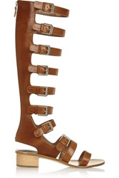 Laurence Dacade Halle Leather Sandals Tan