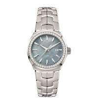 Tag Heuer Link Ladies Diamond Mother Of Pearl Watch Unisex Grey