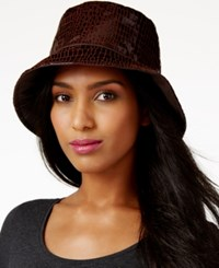 Nine West Reversible Rain Bucket Hat Brown