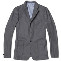 Beams Plus Flannel Blazer Grey