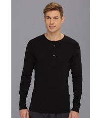 2Xist Essentials L S Henley Black Men's T Shirt