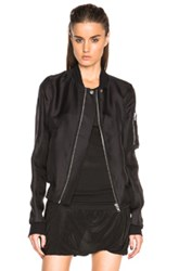 Rick Owens Flight Jacket In Black