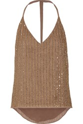 W118 By Walter Baker Whitney Embellished Georgette Top Brown