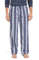 Nordstrom Men's Big And Tall Men's Shop Woven Lounge Pants Blue Exploded Plaid