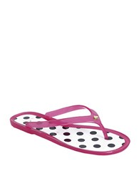 Kate Spade Janela Jelly Thong Sandals Pink