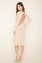 Forever 21 Asymmetrical Lace Up Dress
