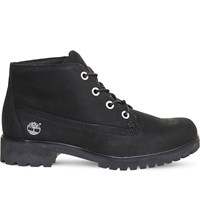 Timberland Slim Nellie Nubuck Leather Chukka Boots Black Nubuck