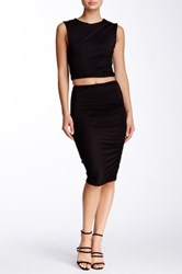 Soprano Ruched Midi Skirt Black