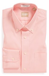 Gitman Brothers Vintage Men's Big And Tall Gitman Regular Fit Pinpoint Cotton Oxford Button Down Dress Shirt Pale Pink