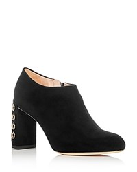Furla Lara Embellished High Heel Booties Black Gold