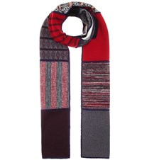 See By Chloe Patchwork Scarf Multicoloured