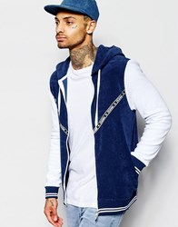Jaded London Navy With Grey Towelling Hoody Navy
