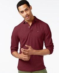 Tommy Hilfiger Men's Big And Tall Long Sleeve Polo Chili Pepper