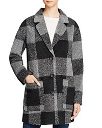 Levi's Oversized Boyfriend Plaid Coat Black Grey