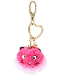 Betsey Johnson Gold Tone Pink Mouse Furry Keychain
