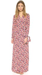 Sonia Rykiel Floral Wrap Dress Red And White