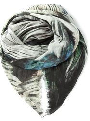 If Six Was Nine Feather Print Scarf Multicolour