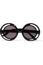 House Of Holland Annice Round Frame Cutout Acetate Sunglasses Animal Print