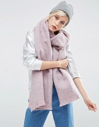 Asos Oversized Long Woven Scarf In Two Tone Pink