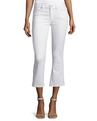 Joie Stretch Cotton Cropped Flare Pants Porcelain