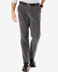 Dockers Men's Straight Fit Pacific Wash Corduroy Pants Mid Grey
