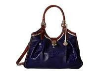Brahmin Elisa Ink Handbags Navy