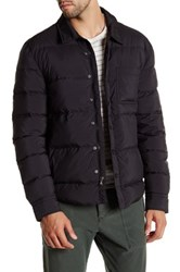 James Perse Snap Button Performance Goose Down And Feather Puffer Jacket Black