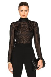 Zuhair Murad Embroidered Bodysuit In Black
