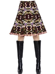 Andrew Gn Wool And Cotton Jacquard Skirt