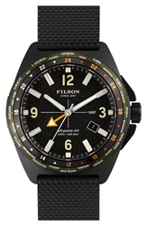Filson 'The Journeyman' Gmt Strap Watch 44Mm Black